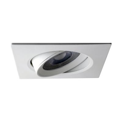 Oprawa LED do wbudowania dekoracyjna kwadratowa ruchoma z tworzywa 230V 7W 560LM biała