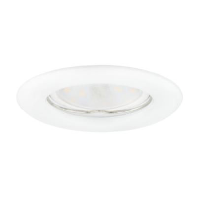 Oprawa sufitowa do wbudowania LED halogenowa dekoracyjna MR16/GU10 okrągła stała tłoczona stal biała