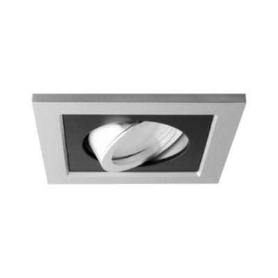 Oprawa sufitowa do wbudowania LED dekoracyjna MR16/GU10 kwadratowa ruchoma z tworzywa szary czarny