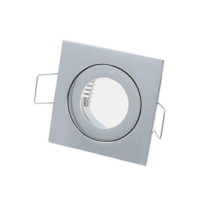 OPRAWA SUFITOWA WODOODPORNA LED GU11 MR11 IP44 KWADRATOWA - CHROM