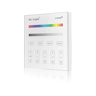 Szklany Panel Naścienny RGB/RGBW 4strefowy Radiowy 230V