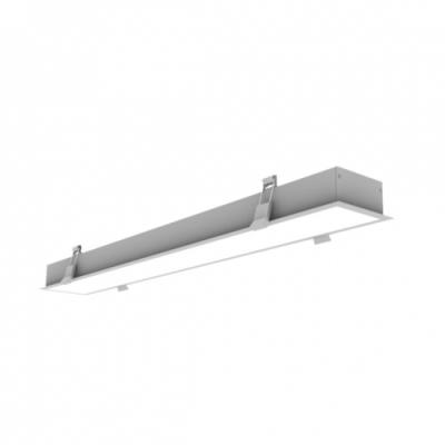 LAMPA BIUROWA LED 60W 5700lm 230V biały dzienny podtynkowa szara
