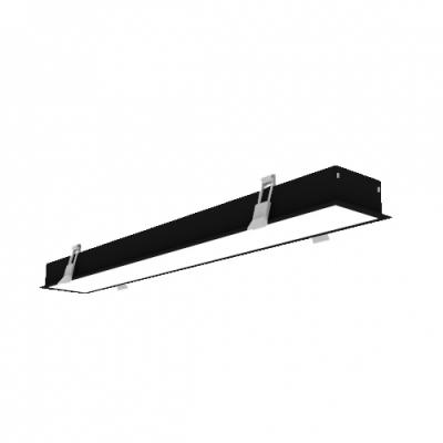 LAMPA BIUROWA LED 60W 5700lm 230V biały dzienny podtynkowa czarna