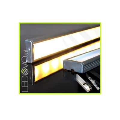 LISTWA LED PODSZAFKOWA Semi 100cm / diody 3528 / biała ciepła + ŚCIEMNIACZ