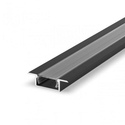 Profil LED Wpuszczany TLD6-2 BL z kloszem transparentnym 1m