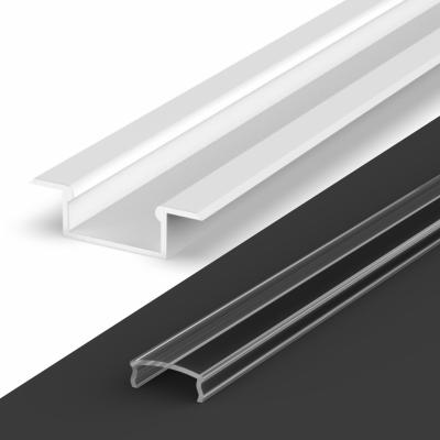 Profil LED Wpuszczany TLD6-2 WH z kloszem transparentnym 1m