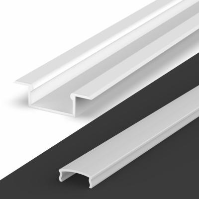 Profil LED Wpuszczany TLD6-2 WH z kloszem mlecznym 2m