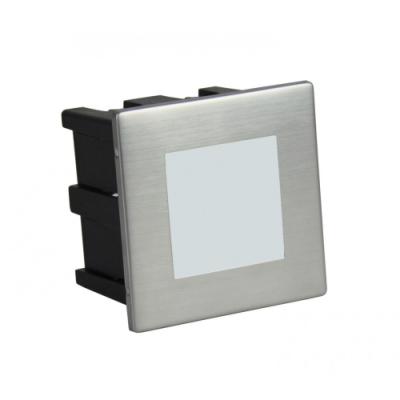 LAMPA DO ZABUDOWY Mur-LED Inox F srebrna