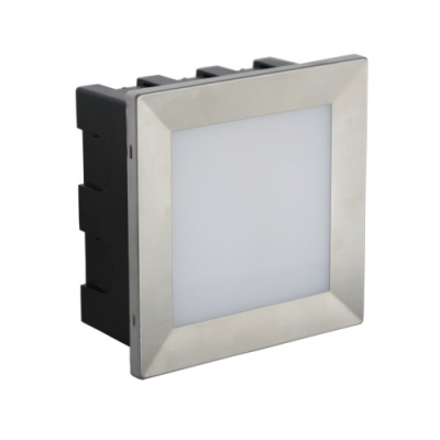 LAMPA DO ZABUDOWY Mur-LED Inox D srebrna