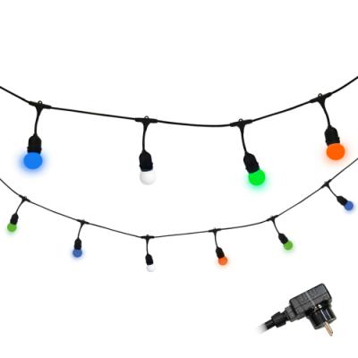 Girlanda ogrodowa PARTY C zestaw z kolorowymi żarówkami LED 36V