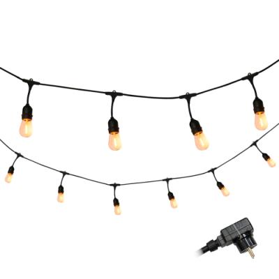 Girlanda ogrodowa PARTY F zestaw z żarówkami LED ciepłe filament 36V