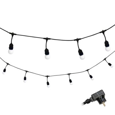 Girlanda ogrodowa PARTY M zestaw białymi ciepłymi żarówkami LED 36V
