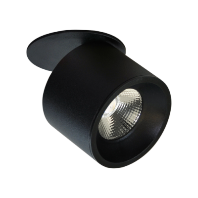 Oprawa sufitowa HARON LED 15W dekoracyjna okrągła ruchoma aluminium czarna