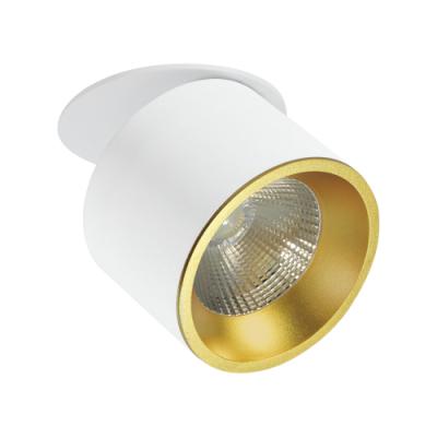 Oprawa sufitowa HARON LED 20W dekoracyjna okrągła ruchoma aluminium biała/złota