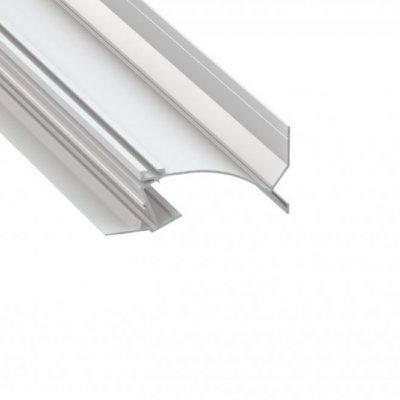 Profil LED architektoniczny konstrukcyjny TOPO WH biały lakierowany z kloszem transparentnym 2m
