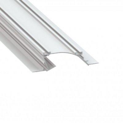 Profil LED architektoniczny konstrukcyjny PERO WH biały lakierowany z kloszem transparentnym 1m