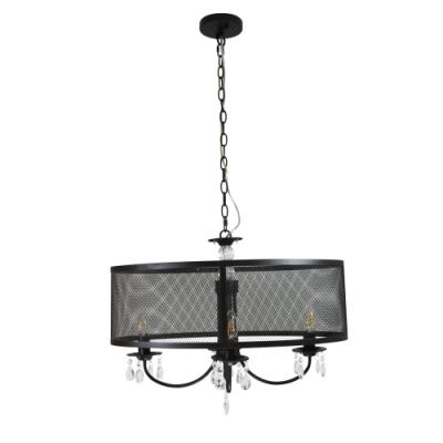 Lampa wisząca Bresso 4 E14 czarna