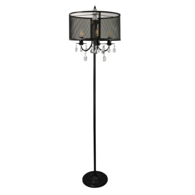Lampa stojąca Bresso 3 E14 czarna