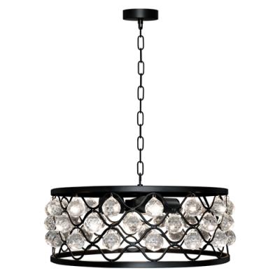 Lampa wisząca Vejle 4 E27 czarna