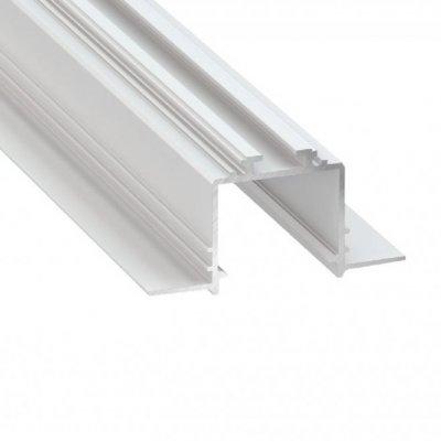 Profil LED architektoniczny wpuszczany SUBLI WH biały lakierowany z kloszem transparentnym 2m