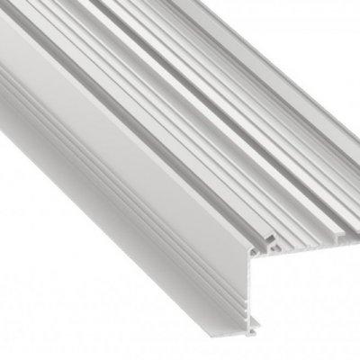 Profil LED architektoniczny wpuszczany SORGA WH biały lakierowany z kloszem transparentnym 1m