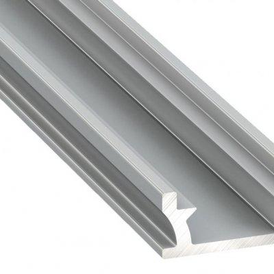Profil LED architektoniczny wpuszczany TERRA AN srebrny anodowany z kloszem mlecznym 2m
