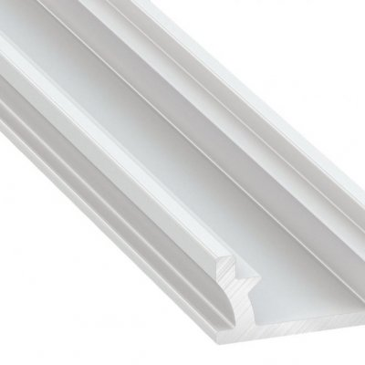 Profil LED architektoniczny wpuszczany TERRA WH biały lakierowany z kloszem mlecznym 1m