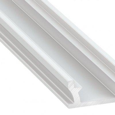 Profil LED architektoniczny wpuszczany TERRA WH biały lakierowany z kloszem mlecznym 2m