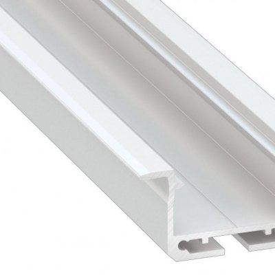 Profil LED architektoniczny wpuszczany inSILEDA WH biały lakierowany z kloszem transparentnym 1m