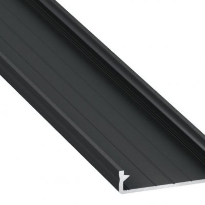 Profil LED architektoniczny napowierzchniowy SOLIS BL czarny anodowany z kloszem mlecznym 1m