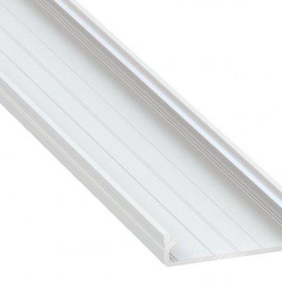 Profil LED architektoniczny napowierzchniowy SOLIS WH biały lakierowany z kloszem transparentnym 1m