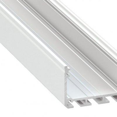 Profil LED architektoniczny napowierzchniowy ILEDO WH biały lakierowany z kloszem transparentnym 1m
