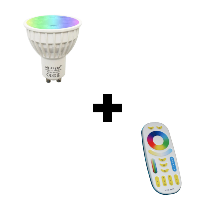 Zestaw Mi-Light GU10 4W RGB+CCT + pilot