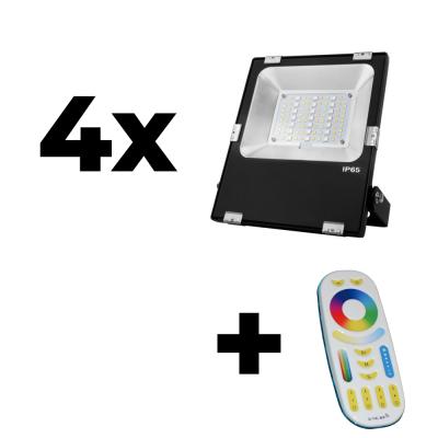 Zestaw Mi-Light 4x Naświetlacz 30W 230V RGB+CCT + pilot