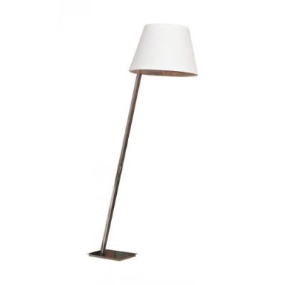 Lampa stojąca Orlando E27 satyna/biały