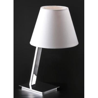 Lampka stołowa Orlando E27 biała/chrom