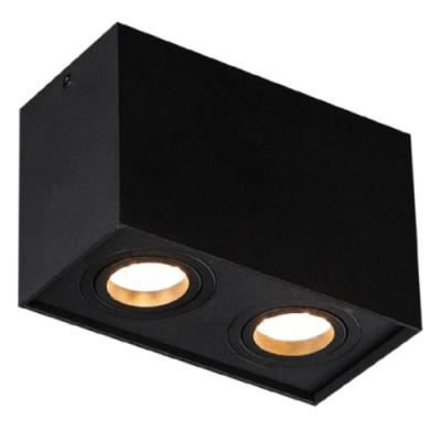 Plafon kwadratowy Basic II GU10 czarny