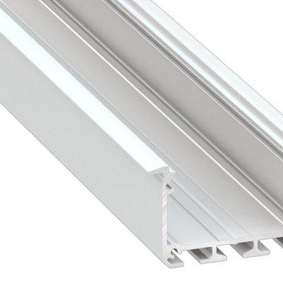 Profil LED architektoniczny wpuszczany INSO AN biały lakierowany z kloszem mlecznym 1m