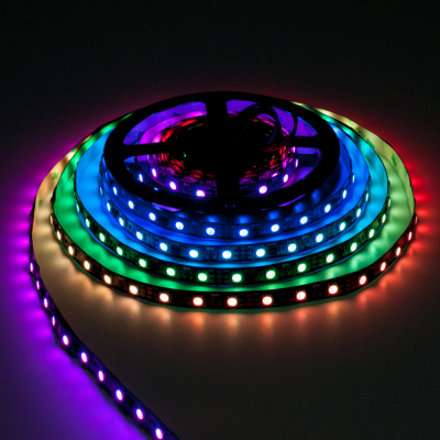TAŚMA CYFROWA MAGIC STRIP Epistar LED RGB+NW 300LED IP20 5V rolka 5m czarny laminat