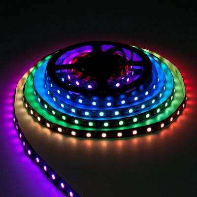 TAŚMA CYFROWA MAGIC STRIP Epistar LED RGB 300LED IP20 5V rolka 5m czarny laminat
