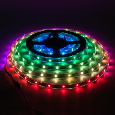 TAŚMA CYFROWA DMX STRIP Epistar LED RGB 5m 150LED IP67 czarny laminat