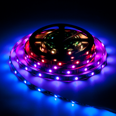 TAŚMA CYFROWA MAGIC STRIP Epistar LED RGB 5m 150LED IP20 czarny laminat