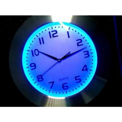 ZEGAR LED RGB Flux - 16 BARW PODŚWIETLENIA + PILOT / 26 cm !