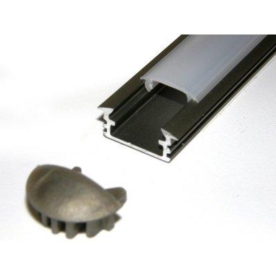 INOX PROFIL LED WPUSZCZANY W FREZ LD3 SZYBKA MLECZNA 1m