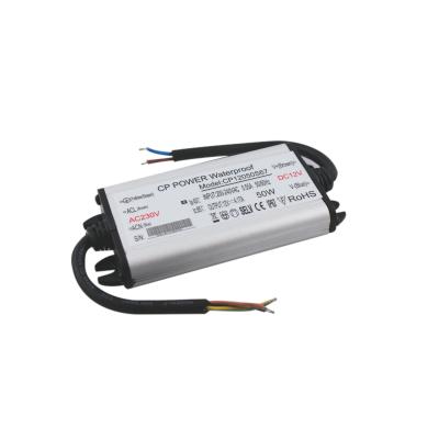 Zasilacz MONTAŻOWY CP Power LED 12V / 50W / 4.17A / wodoodporny / super płaski - IP67