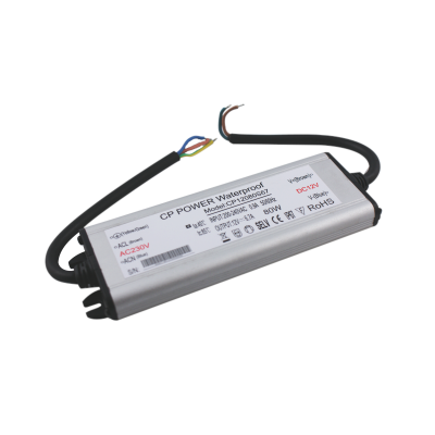 Zasilacz MONTAŻOWY CP Power LED 12V / 80W / 6.7A / wodoodporny / super płaski - IP67