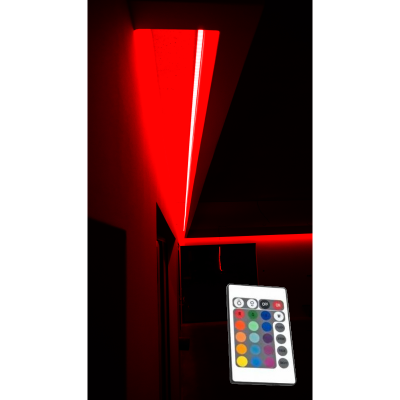 OŚWIETLENIE LED RGB SUFITU Z PILOTEM IR / 15 mb/EPISTAR IP65