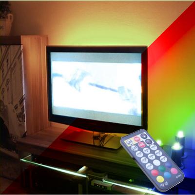 """PODŚWIETLENIE TV LED RGB+Biały Ciepły PILOT RADIOWY max 46"""""""