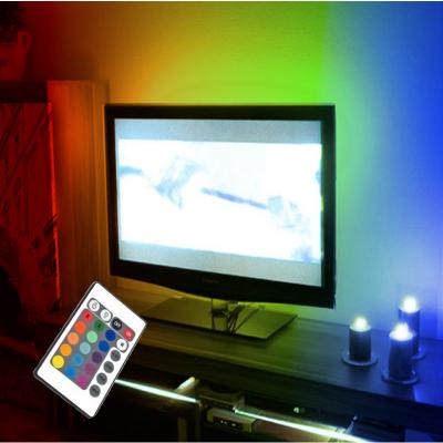 """PODŚWIETLENIE LED RGB TELEWIZORA Wielokolorowe PILOT max 46"""""""