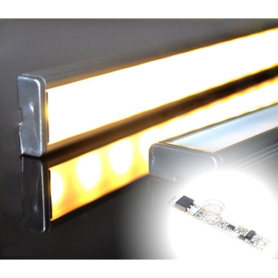 LISTWA LED PODSZAFKOWA Semi 50cm / diody 3528 / biała ciepła + ŚCIEMNIACZ